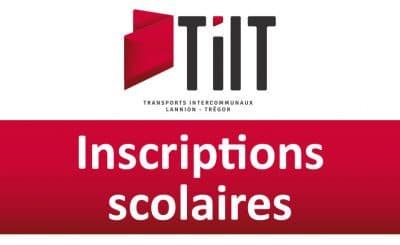 inscription scolaire au réseau LTC lannion trégor communauté TILT