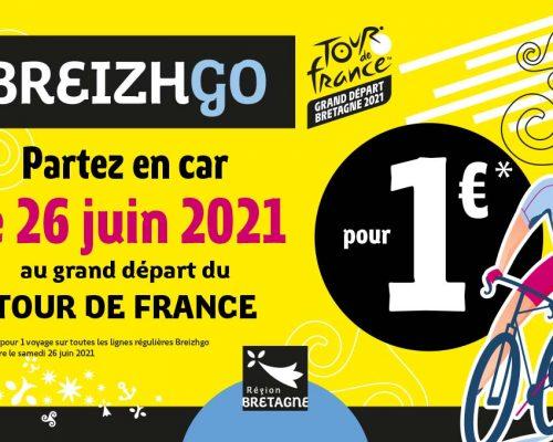 Transport breizhgo Tour de France première étape Brest Landerneau 26 juin 2021